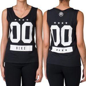 Nike Black Arch Nemesis Basketball Tank
